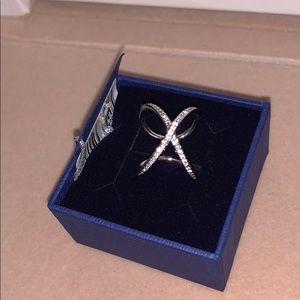 Swarovski crystal ring size 52 adjustable